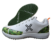 Payntr X Camo Cricket Stud Shoes Green Brown White