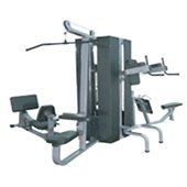 POWERMAX FITNESS MC 450 Multi Gym 4 Stack wIth Weight Shield Commercial Multigym