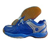 PRO ASE Court Badminton Shoe Blue and Silver