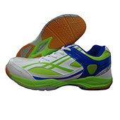PRO ASE 2015 Badminton Shoe Blue and Green Size UK 4