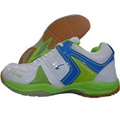 PRO ASE Xtra Cushion Badminton Shoe White and Green