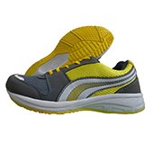 PRO ASE Running Shoes Gray White and Yellow