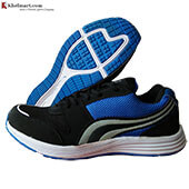 PRO ASE Marathon Running Shoes Black and Blue