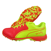 Puma 19 FH Rubber Red Blast Yellow Alert Cricket Shoes