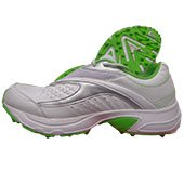 Puma Lithium Rubber stud Cricket Shoes White and Green
