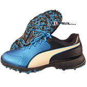 Puma 19 FH Rubber Cricket Shoes Black and  Blue