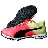 Puma EvoSpeed one 8 R Fade Cricket Shoes Red and Blast Yellow