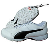 Puma EvoSpeed one 8 R Cricket Shoes White and Black