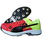 Puma EvoSpeed 18.1 CrickBowl Fade Cricket Shoes Red Lime and Black