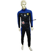 Puma Tracksuit Black and Blue Medium