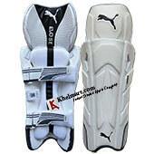 Puma Evo Se Cricket Wicket Keeping Leg Guard White and Black