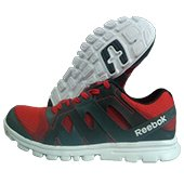 Reebok Electro Run Running Shoes Red Black and White