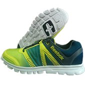 Reebok Run Duo Fast Running Shoes Black Lime and White