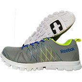 Reebok Pulse Run Running Shoes Grey and Neon Yellow