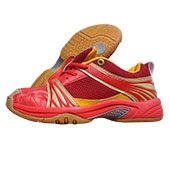 RXN Spirited Red and Yellow Badminton Shoes Size UK 5