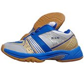 RXN Spirited White and Blue Badminton Shoes