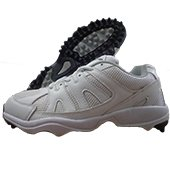 RXN Test Match Stud Cricket Shoes White and Black