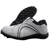 RXN CR 27 Stud Cricket Shoes White and Black