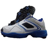 RXN CR 24 Stud Cricket Shoes White and Blue