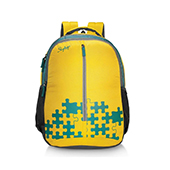 Skybags Pixel 03 Backpack Yellow and Green