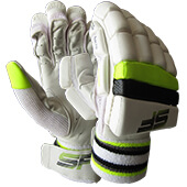SF Pro Lite Cricket Batting Gloves Lime Youth Size