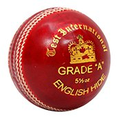 SF Test International Red Cricket Ball 6 Ball Set