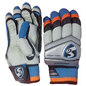 SG Prosoft Cricket Batting Gloves Left Hand White Blue and Black