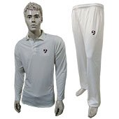 SG Club Cricket Clothing Full Sleeves T Shirt and Lower Size Small