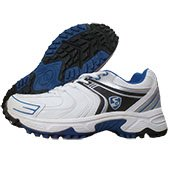 SG Prolite Cricket Shoes White Blue and Black