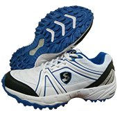 SG Steadler 5.0 Cricket Shoes White Blue and Black