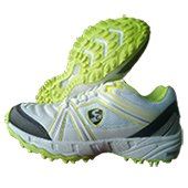 SG Steadler 5.0 Cricket Shoes White Lime and Black