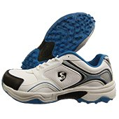 SG Club Cricket Shoes White and Blue