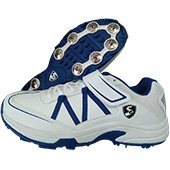 SG Xtreme 4.0 Full Spike Cricket Shoes White and Blue