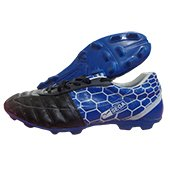 Star Impact Classic Leather Football Stud Shoes Blue and Black