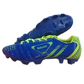 Star Impact Elegant Football Stud Shoes Blue and Lime I