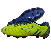 Star Impact Elegant Football Stud Shoes Blue and Yellow