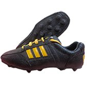 Star Impact Nova Football Stud Shoes Black and Yellow