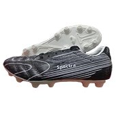 Star Impact Spectra Football Stud Shoes Black and White