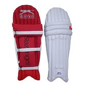 Slazenger Academy Batting Pad White and Red