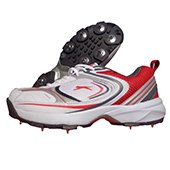 Slazenger Sussex Cricket Shoes White and Red