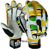 SM Emerald Batting Gloves White and Yellow