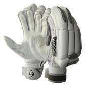 SM Vigour Cricket Batting Gloves White