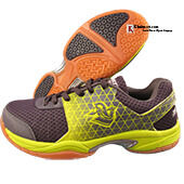 Spartan Strom badmniton Shoes color Lime and Black