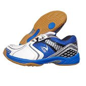 V22 Badminton Court Shoes Blue and White