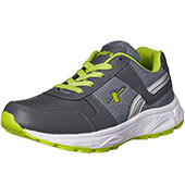 Sparx Running Shoes Dark Grey and Lime