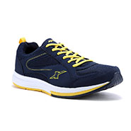 Sparx Running Shoes Navy Blue and Yellow