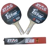 Set Of 2 Stag 1 Star T.T.Bat and T.T.Ball