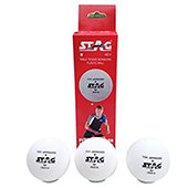 Stag One Star Table Tennis Ball White Set of 12 Balls Plastic
