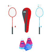 Stag Avenger Badminton Combo Red and Blue