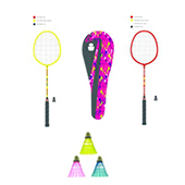 Stag Avenger Badminton Combo Yellow and Red